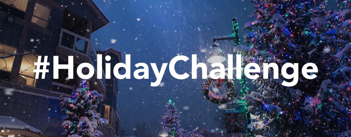#HolidayChallenge Graphic